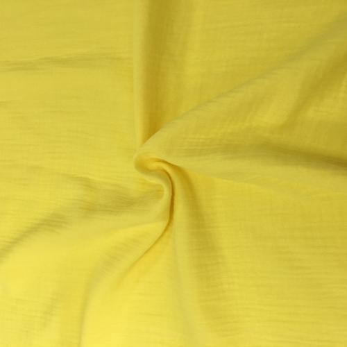 Муслин жатка, однотонный, 135см, желтый №33