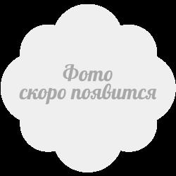 Сатин хлопок, 160 см, крупный белый горох, серый фон